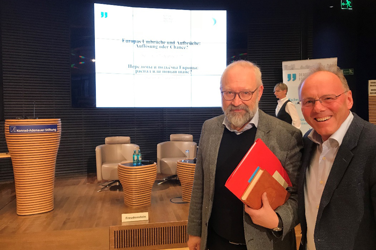 Prof. Herfried Muenkler and Dr. Dirk Troendle