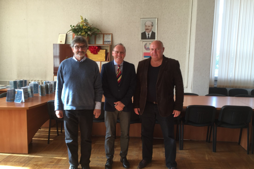 Prof. Novikov, Dr. Troendle, Prof. V. Fedosyuk, Academy of Sciences