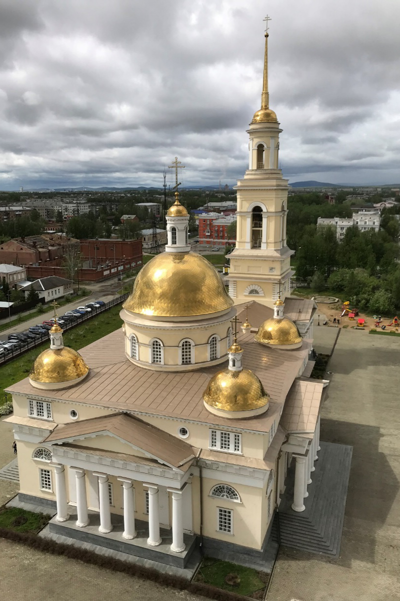 View of the church from the leaning Nevjanskaya tower