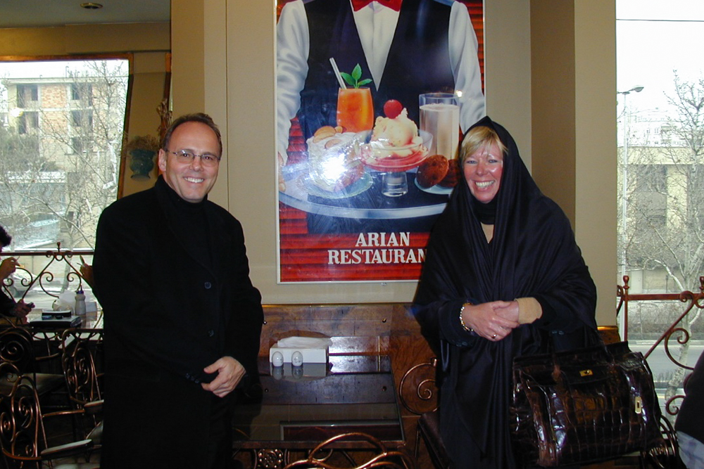 "Dr. Troendle, A. Stickel in the ""Aryan"" restaurant"