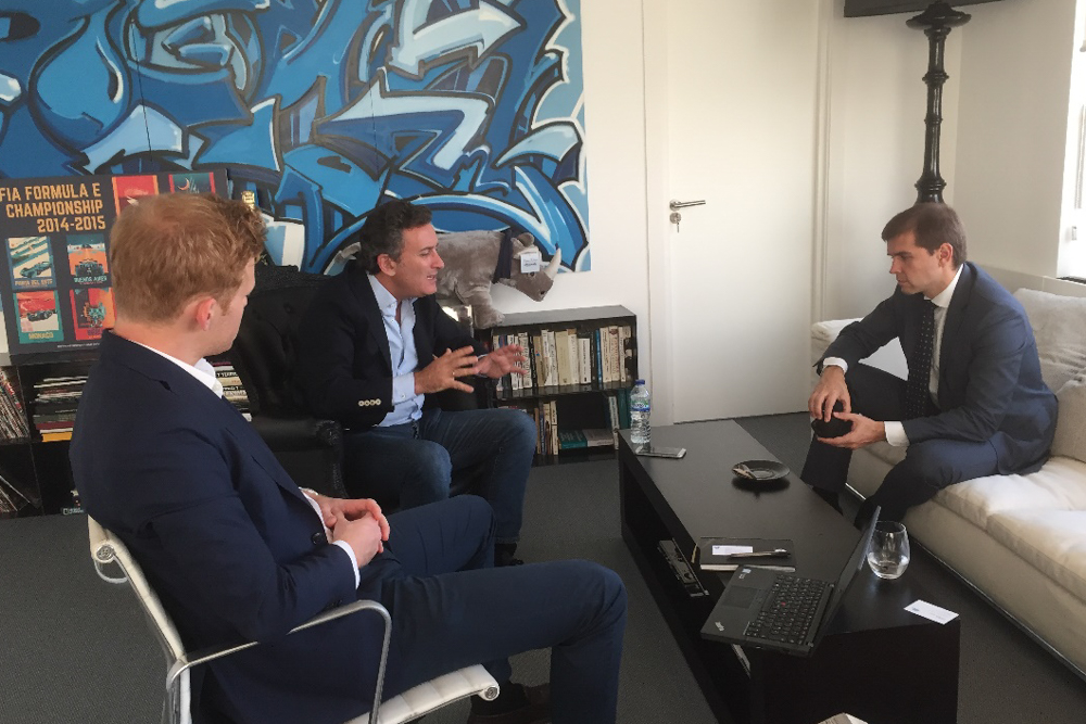 Discussion S. Novikov, Rosatom Marketing with A. Agag, Formula E